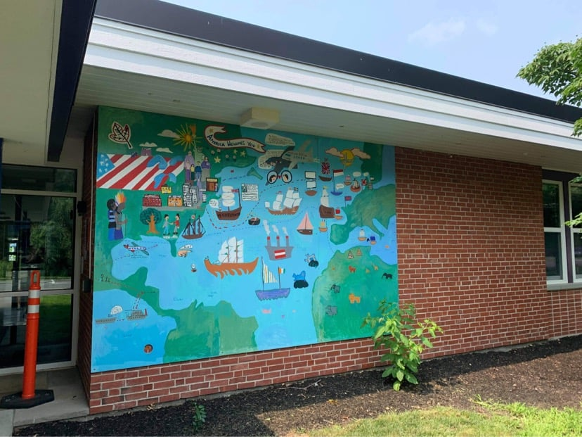 School Mural Sends Wrong Message About Who's Welcomed in the USA